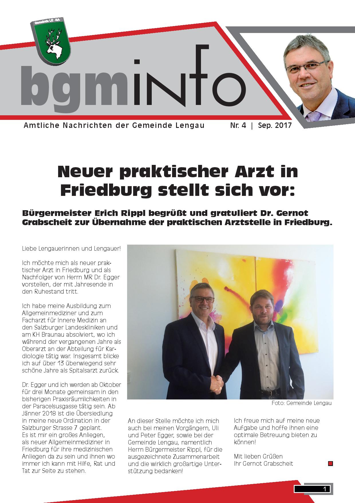 Obersterreich - Zentrum - Bildung - Gemeinde Lengau